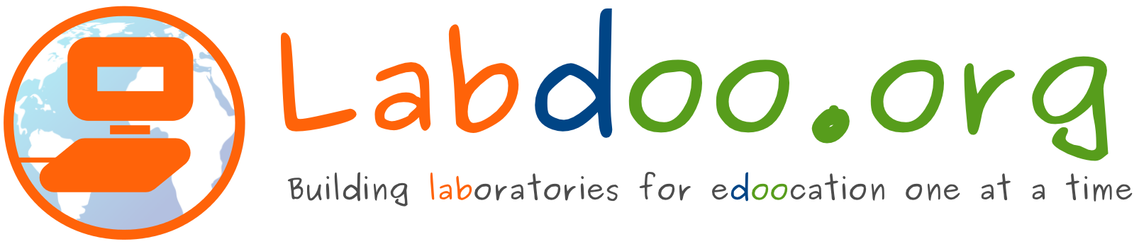 labdoo logo laptop orange